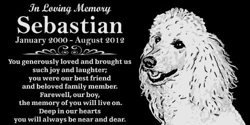 (Personalized Poodle Pet Memorial 12