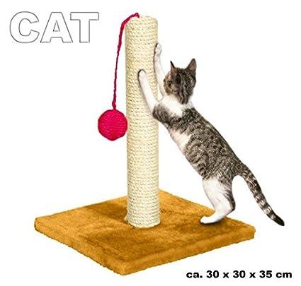 Rascador en sisal para uñas, para gatos con balón de juegos ...