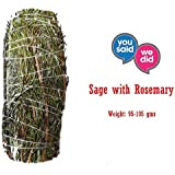 ExcIdea White Sage Smudge Bundle with Rosemary | 100 Grams | Removes Negativity | White Sage Leaves