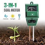 Wallfire Digital PH Soil Tester, 3-in-1 PH Moisture Sunlight Sensor Probe Meter PH Soil Test Kits Test Function For Home And Garden, Plants, Farm, Indoor/Outdoor Use. (3-in-1 Soil PH Meter)