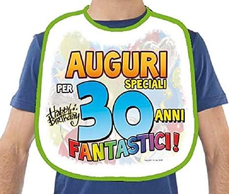 Bavaglione 70 Anni Gadget Stampato Idea Regalo Festa 70