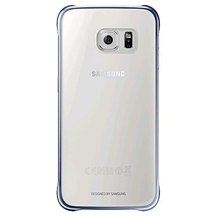 ddb2b6ea006 Samsung Clear Cover - Funda Oficial Oficial Oficial Galaxy S6, Color Negro-  Versión Extranjera