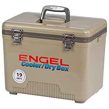 ENGEL COOLERS 19 QUART COOLER/DRY BOX TAN