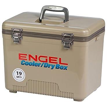 ENGEL COOLERS 19 QUART COOLER/DRY BOX TAN