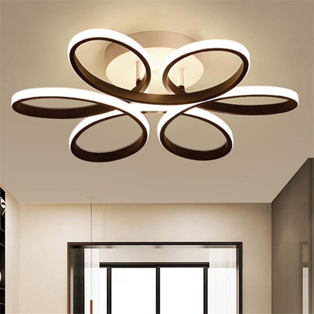 LEDシーリングライトモダンアクリル天井ランプ、モダンなledリビングルームの寝室子供部屋の装飾シーリングライト、52×41×6センチ,warmlight  warmlight B07TRH9CJS