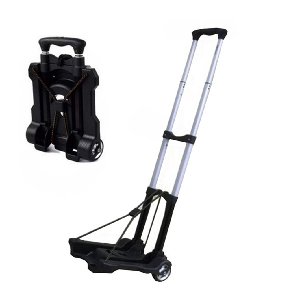 Folding Travel Cart Portable Adjustable Home Luggage Carts Trolley Shipping Cart Fixed Travel Bags Accessories Suppliesmetal Jenify
