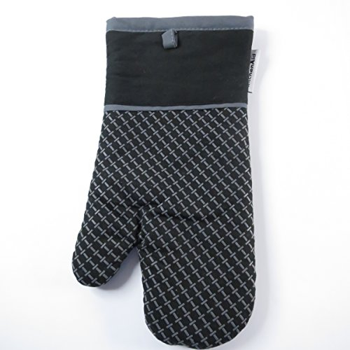 KitchenAid Oven Mitt with Textured Silicone , Charcoal Black