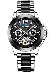 BINKADA Men's Automatic Mechanical Movement Stainless-steel Business Casual Watch #7003B01-1