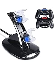 Tiancai Chargeur pour Manette Playstation 4 PS4 / PS4 Slim Pro Console Charging Dock stand,Double USB de Charge Rapide Console Contrôleur Playstation 4/PS4 Slim Pro avec Indicateur LED