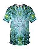 On Cue Apparel Stargate T-Shirt - All Over Print Graphic Rave Shirts - Large