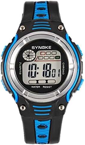 Welcomeuni Waterproof Children Boys Digital LED Sports Alarm Date Watch
