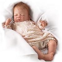 "Waltraud Hanl Hush, Little Baby Collectible Lifelike Baby Girl Doll: So Truly Real - 18"" by Ashton Drake"
