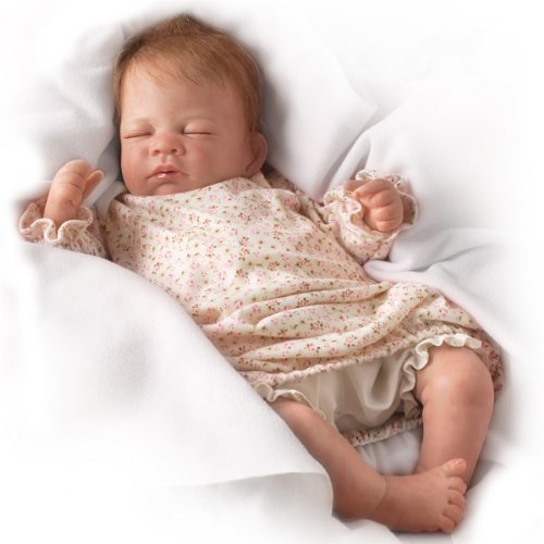 Hush Little Baby Breathes Like a Real Baby - So Truly Real® Lifelike, Interactive & Realistic Newborn Baby Doll 18-inches  by The Ashton-Drake Galleries