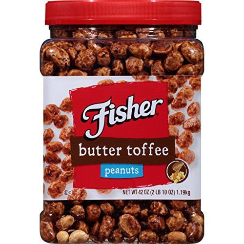Fisher Butter Toffee Peanuts, 42 Ounce (Pack of 6)
