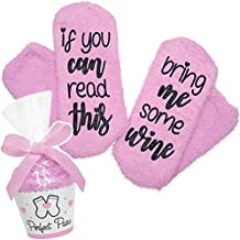 Perfect Pairs Socks - If You Can Read This Bring Me Some Wine Socks - Comfortable Fuzzy Gift Idea For Mother, Wife, or Friend
