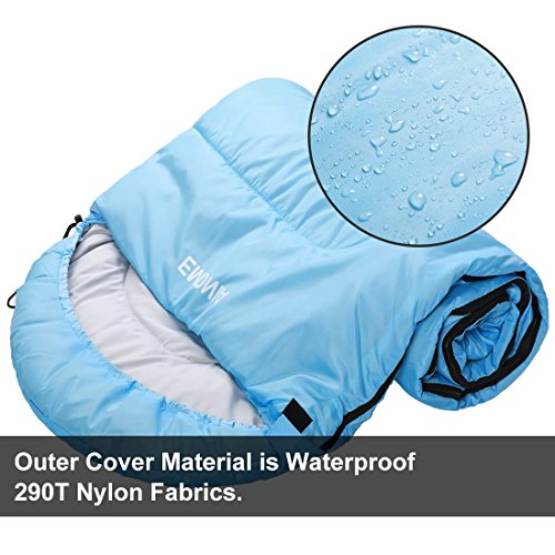 Emonia Camping Sleeping Bag,Three season.Waterproof Outdoor Hiking Backpacking Sleeping Bag Perfect for 20 Degree Traveling,Lightweight Portable Envelope Sleeping Bags for Adults,Girls and Boys by Emonia (Image #2)