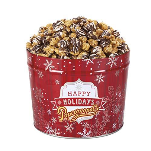 Popcornopolis Gourmet Popcorn 1.26 Gallon Zebra Tin