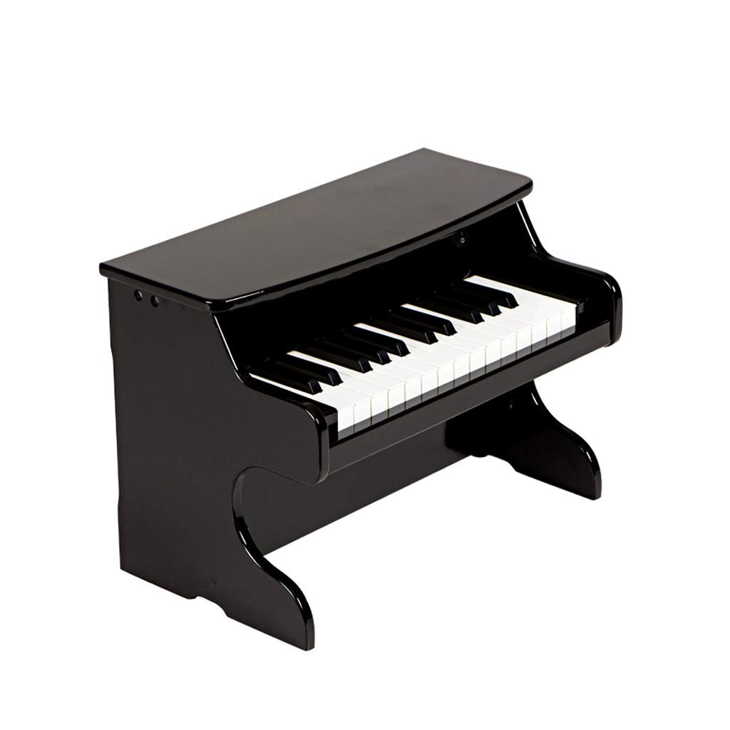 KTYXDE ピアノ木製キーボード子供初心者1-3-6歳の男の子と女の子の赤ちゃんの小さなミニおもちゃ キッズキーボードピアノ (色 : ブラック)  ブラック B07RKP3RG5