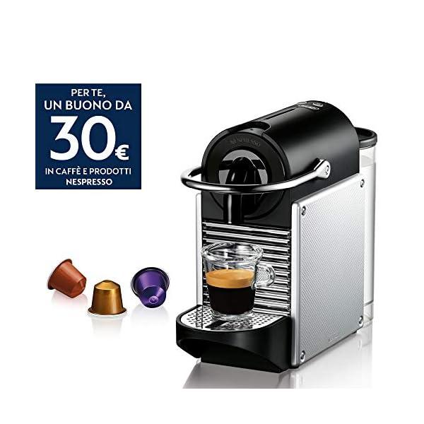 De'Longhi EN 124.S Nespresso Pixie EN124.S Macchina per caffè Espresso, 1260 W, Plastica, Argento, 0.7 Litri, Metallo 2