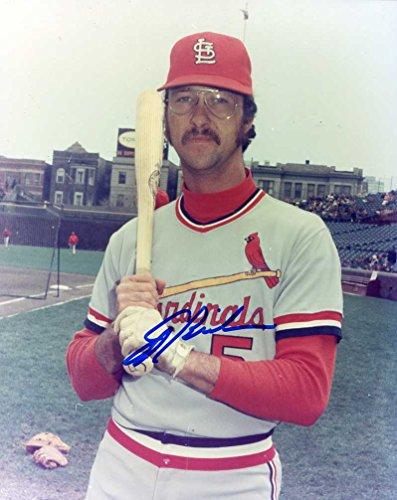 (Ed Brinkman (D. 2008) Autographed/ Original Signed 8x10 Color Photo Showing Him with the St. Louis Cardinals)