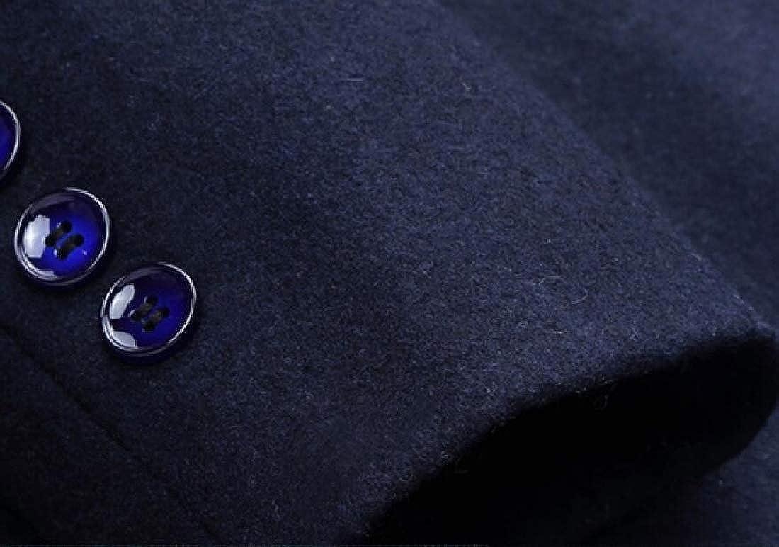 Miracle Men Classic Winter Business Formal Lapel Woolen Cozy Blazer Jacket