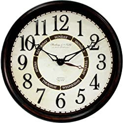 Better Homes and Gardens 20 Calendar Wall Clock