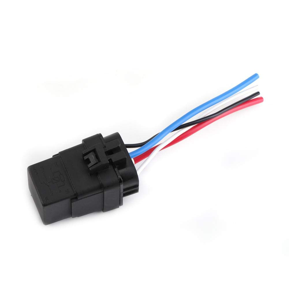 2pcs Auto Relay 4Pin 12V DC,Automotive Relay Switch Socket and Relay Holder,Weather Proof Seal Heavy Duty Car Motor Relay Weather Proof Seal