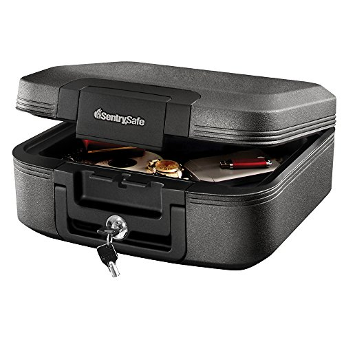 - SentrySafe CHW20221 Fireproof Box and Waterproof Box with Key Lock 0.28 Cubic Feet