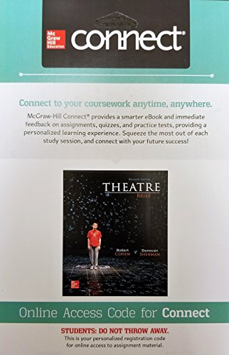 Theatre, Brief Loose Leaf 11th edition by Cohen CONNECT Access