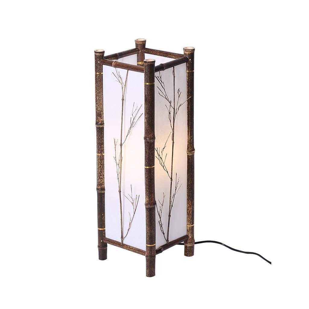 WPLDD Lámpara de bambú de la habitación y lámpara de pie de ...