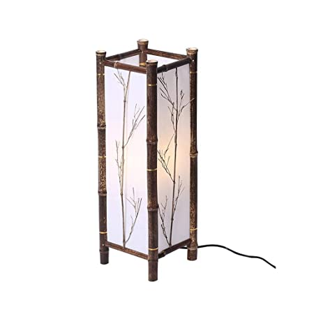 WPLDD Lámpara de bambú de la habitación y lámpara de pie de la ...
