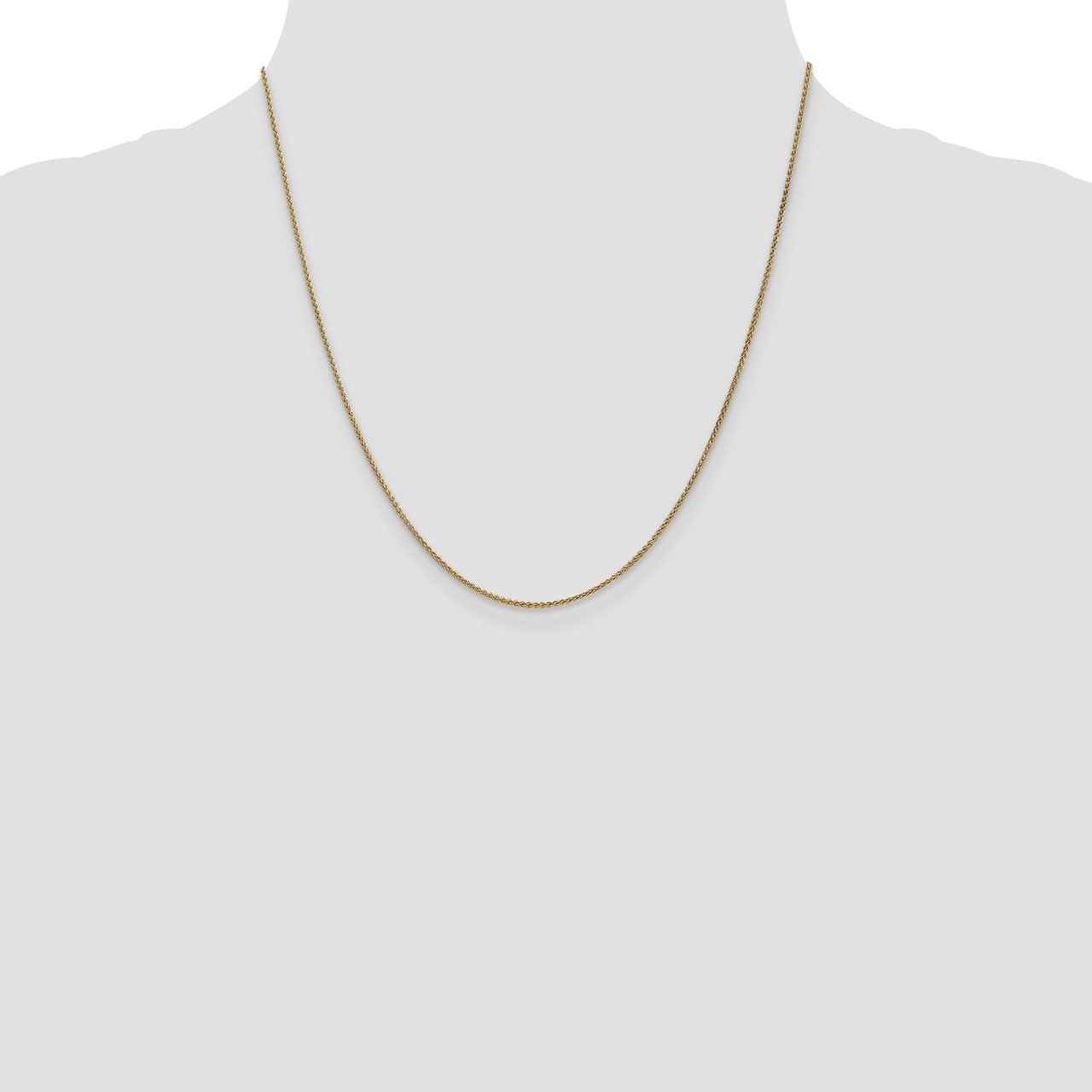 Lex /& Lu 14k Yellow Gold 1.25mm Spiga Chain Necklace or Anklet