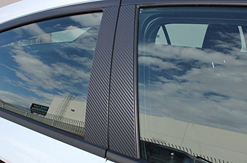 Factory Crafts Door Window Pillars Graphics Kit 3M Vinyl Decal Wrap Compatible with Dodge Charger 2011-2014 - Black Carbon Fiber
