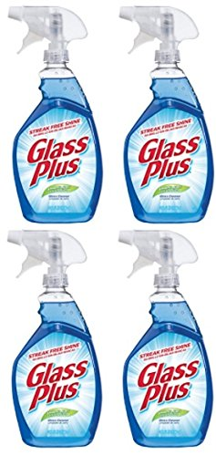 - Glass Plus Glass Cleaner, 32 fl oz Bottle, Multi-Surface Glass Cleaner (Pack of 4)