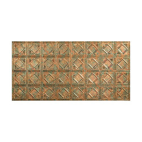 Fasade Easy Installation Traditional 4 Copper Fantasy Glue Up Ceiling Tile / Ceiling Panel (2' x 4' Panel)