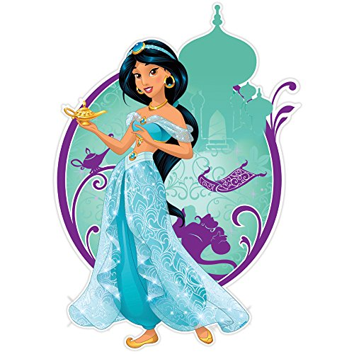 Silver Buffalo DP3906 Disney Princess Jasmine Smile Die Cut Wood Wall Art, 12 x 8.5 inches