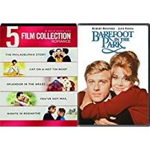 Decades Best Romance DVD Bundle The Philadelphia Story/Cat on a Hot Tin Roof/Barefoot in the Park Neil Simon/Splendor in the Grass/You've Got Mail/Nights in Rodanthe