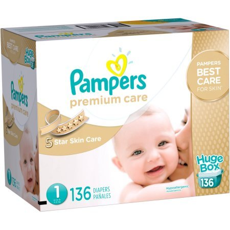 Amazon.com: Pampers Size 1, 8-14lbs Premium Care Disposable Diapers, 136 Counts: Health & Personal Care