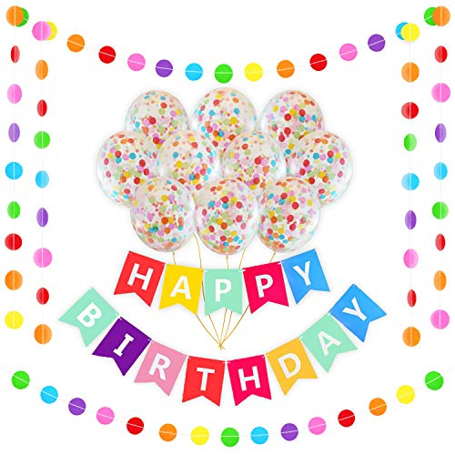 Happy Birthday Rainbow Banner Decoration Set | 16