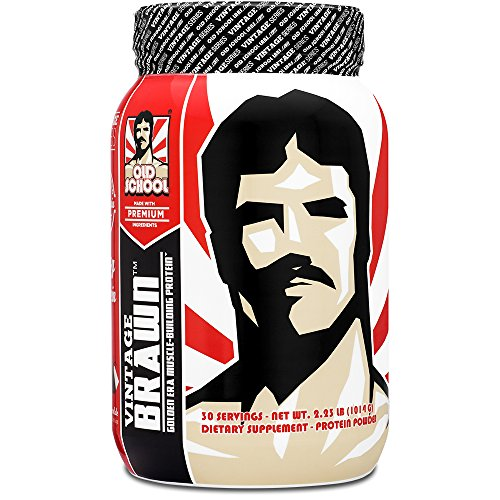 (Vintage Brawn Protein - Muscle-Building Protein Powder - The First Triple Isolate of Premium Egg, Milk (Whey and Casein), and Beef Protein - Vanilla Milkshake with Zero Sugars and No Artificials)