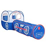Sviper Kids Play Tunnels Train Play Tent Foldable Portable Indoor Outdoor Yard Tunnel Playhouse for Kids Toddler Pop Up Tunnel Gift Toy
