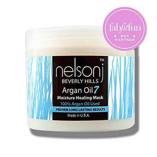 Nelson j Beverly Hills Argan Oil 7 Moisture Healing Mask - Scent: Coconut 16 oz (Scent: (Beverly Hills Moisture)