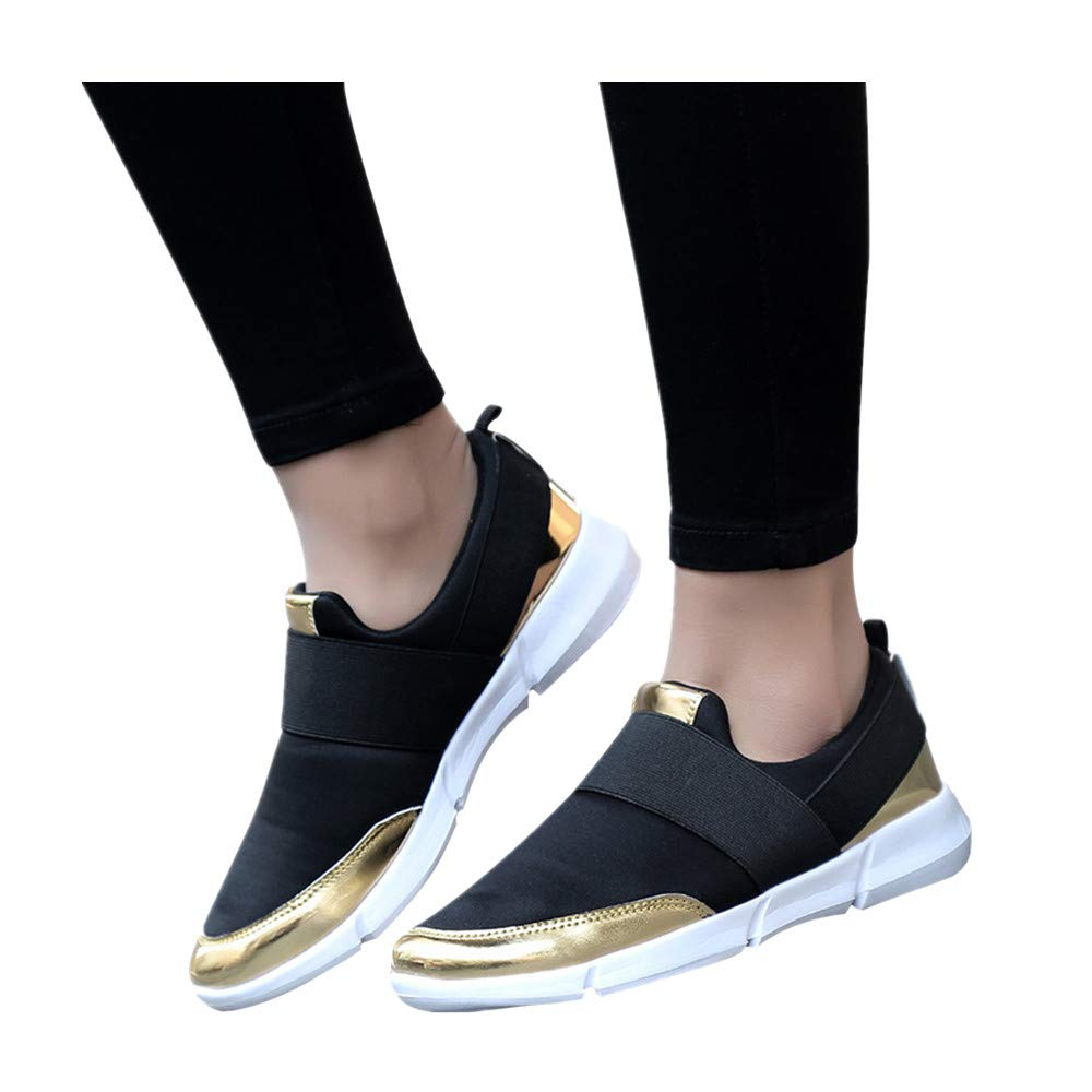b274d6ed587ab Women's Walking Shoes Slip On Breathable Loafers Lightweight Casual Running  Flat Sneakers