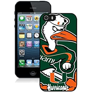 Customized Iphone 6 plus Case with NCAA Atlantic Coast Conference ACC Footballl Miami (FL) Hurricanes 7 Protective Cell Phone Hardshell Cover Case for Iphone 6 plus Black