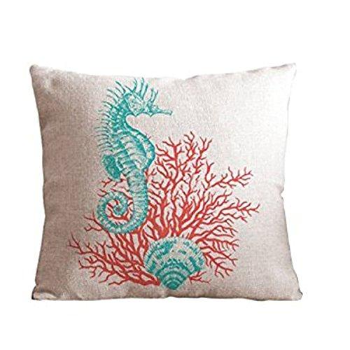 YOUHOME Cotton Decorative Pillow Shape ocean beach print product image