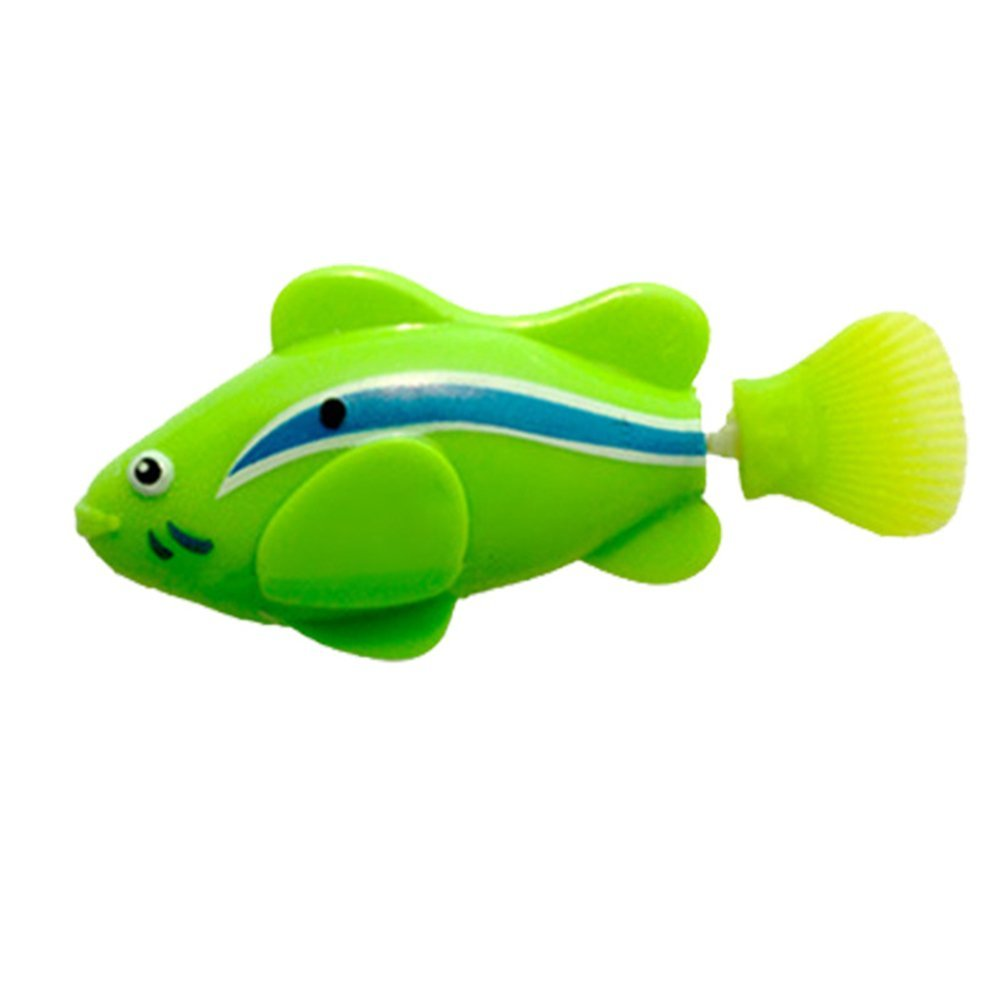 Fashion Electric Swim Fish Activated Battery Powered Robotic Toy - Green