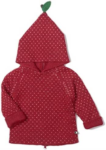 OEUF APPLE HOODIE - RED/ROSE DOTS