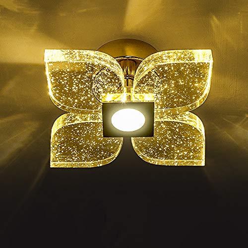 Sunny Lingt Luz LED colgante moderna, mini burbuja de cristal de cristal de techo del accesorio de iluminacion con LED integrado, 3000K 6000K del final del cromo de la lampara por la isla Cocina Pasil