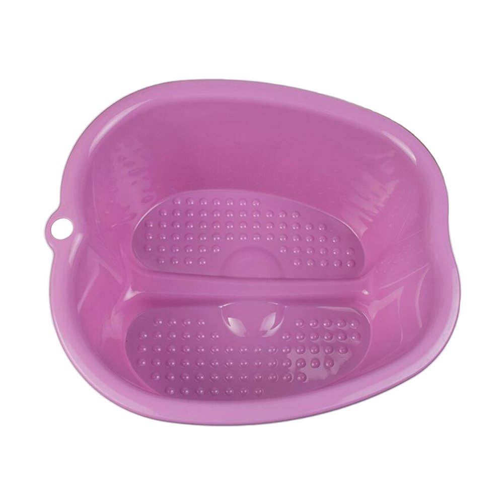 Foot Bath Spa,Water Spa and Foot Massage, Sturdy Plastic Foot Basin for Soaking Foot,Detox,Toe Nails, and Ankles,Pedicure,Portable Foot Tub-Purple