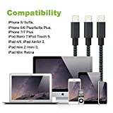 Lightning Cable, VPR 3Pack iPhone Charger Cord nylon braided for Apple iphone SE, iPhone 7, 7Plus, 6s, 6s+, 6+, 6,5s 5c 5,iPad Mini, Air, iPad 6, iPod (3FT 6FT 10FT)